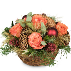 "Ordina ""Christmas Basket with Roses"""
